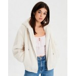 AE Faux Fur Bomber Jacket