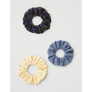 AE Floral & Blue Scrunchie 3-Pack