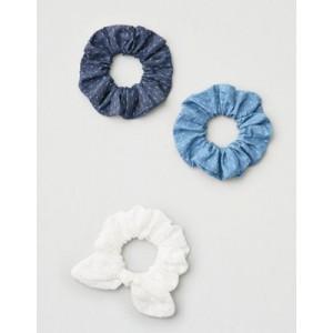 AE Chambray & White Scrunchie 3-Pack