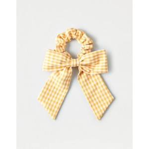 AEO Gingham Print Bow Scrunchie
