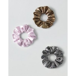 AEO Metallic Scrunchies 3-Pack