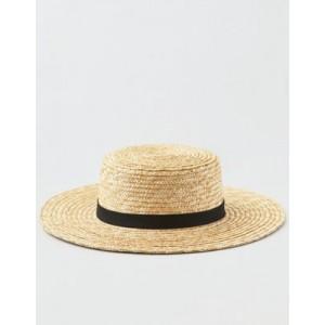 AEO Wide Brim Straw Boater Hat