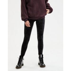 Memoi Crushed Velvet Legging