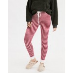 AEO Super High-Waisted Cozy Striped Legging