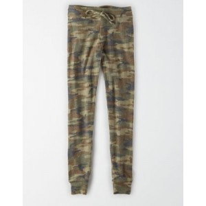 AEO Super High-Waisted Camo Waffle Plush Legging