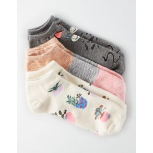 AEO Cat Ankle Sock 3-Pack