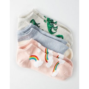 AEO Dino Ankle Sock 3-Pack