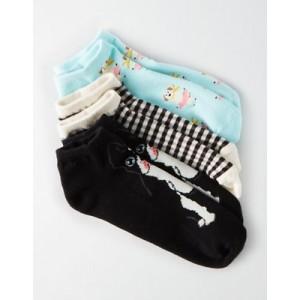 AEO French Bulldog Ankle Sock 3-Pack