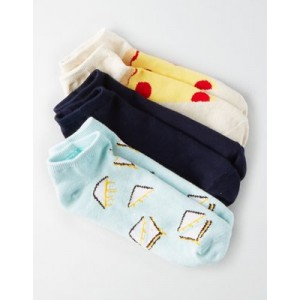 AEO Pizza Ankle Sock 3-Pack