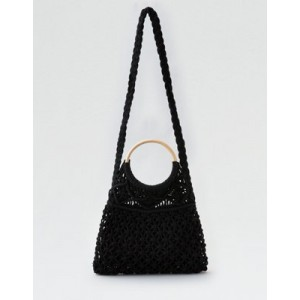 AE Wooden Handle Macrame Bag