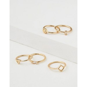 AE Geo Stacking Ring 5-Pack