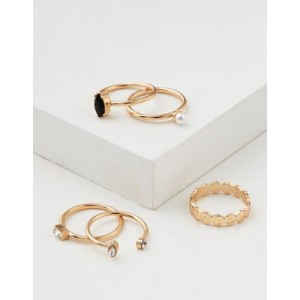 AE Gold Stacking Ring 5-Pack
