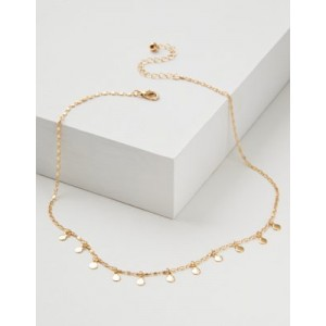 AEO Delicate Short Layering Disc Necklace