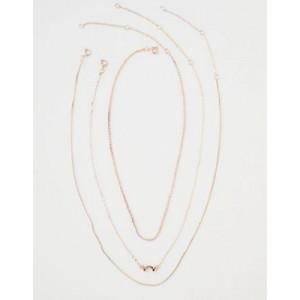 AEO Dainty Rainbow Layering Necklace