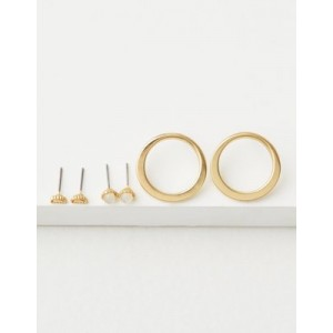 AE Gold Metal Earring 3-Pack