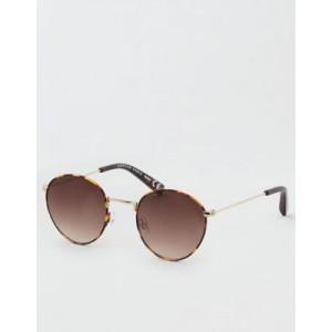 AE Tortoise Round Metal Sunglasses