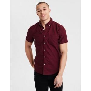 AE Short Sleeve Oxford Button Down Shirt