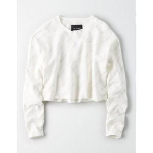 AE Studio Cropped Crew Neck Sweatshirt