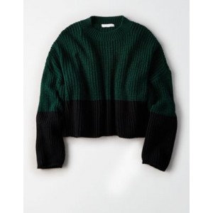 Don't Ask Why Color Block Crew Neck Sweater