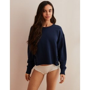 Aerie Lace-Up Pullover Sweatshirt
