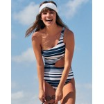 Aerie Cutout One Shoulder One Piece Swimsuit