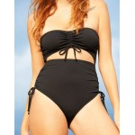Aerie Ribbed Cut Out One Piece Swimsuit