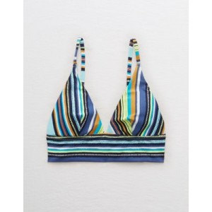 Aerie Pique Longline Triangle Bikini Top