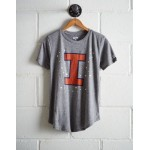Tailgate Women's Illinois Foil Star T-Shirt