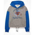 Tailgate Womens Chicago Cubs Raw Hem Cropped Sweatshirt