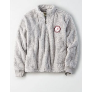 Tailgate Women's Alabama Crimson Tide Sherpa Zip-Up Sweatshirt