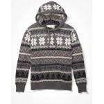AE Super Soft Fairisle Hooded Sweater