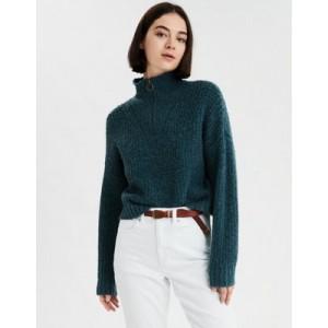 AE Cropped Quarter Zip Sweater