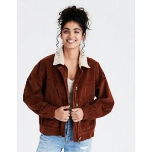 AE Fuzzy Sherpa Collar Corduroy Jacket