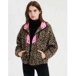 AE Fleece Leopard Print Jacket
