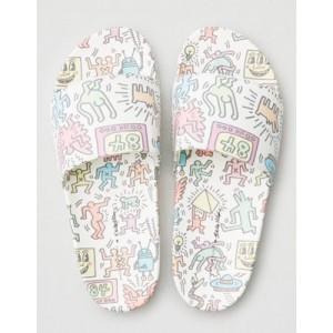 AE X Keith Haring Pool Slide Sandals