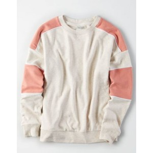 AE Ahhmazingly Soft Color Block Crewneck Sweatshirt