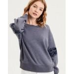 AE Ahhmazingly Soft Lace Inset Crew Neck Sweatshirt