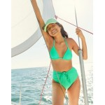 Aerie Tie High Cut Cheeky Bikini Bottom