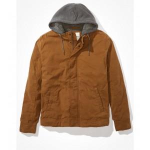 AE Sherpa Lined Hooded Workwear Jacket