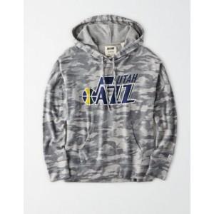 Tailgate Women's Utah Jazz Camo Plush Hoodie