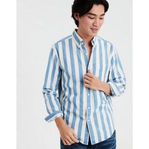 AE Striped Denim Shirt