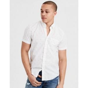 AE Short Sleeve Poplin Button Down Shirt