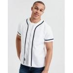 AE Short Sleeve Button Down Baseball Shirt