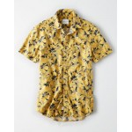 AE Short Sleeve Hawaiian Button Up Shirt
