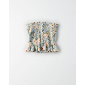 AE Button Up Smocked Tube Top