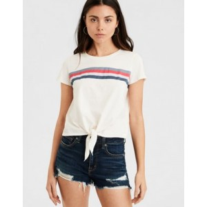 AE Striped Knot Front Tee