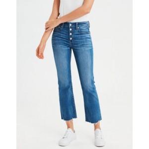 High-Waisted Crop Flare Jean