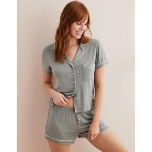 Aerie Piping Pajama Shirt