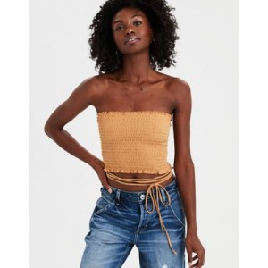 AE Wrap Around Smocked Tube Top