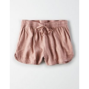 High-Waisted Linen Short